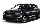 2021 KIA Rio GT-Line 5 Door Hatchback Angular Front automotive stock photos of front three quarter view
