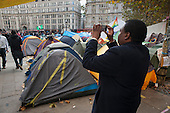 Occupy London camp, St Paul's Cathedral, on the day after a legal deadline for its removal set by the City of London Corporation.