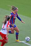Liga IBERDROLA 2020-2021. Jornada: 10<br /> FC Barcelona vs Santa Teresa: 9-0.<br /> Marta Parralejo vs Lieke Martens.