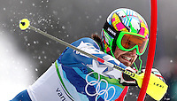 USA's Nolan Kasper passes a gate during his second run in the men's slalom at the XXI Olympic Winter Games Saturday, February 27, 2010 in Whistler, British Columbia.