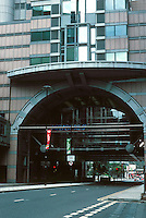 Terry Farrell: Alban Gate, London 1991. Building spans the road. Post-Modern. Photo '05.