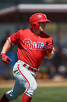 Philadelphia Phillies Kevin Markham (5) during a Minor League Spring Training game against the Pittsburgh Pirates on March 23, 2018 at the Carpenter Complex in Clearwater, Florida.  (Mike Janes/Four Seam Images)