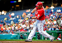 22 April 2010: Washington Nationals' first baseman Adam Dunn in action against the Colorado Rockies at Nationals Park in Washington, DC. The Rockies shut out the Nationals 2-0 gaining a 2-2 series split. Mandatory Credit: Ed Wolfstein Photo