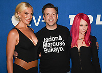 """15 July 2021 - West Hollywood, California - Hannah Waddingham, Jason Sudeikis, Juno Temple. Apple's """"Ted Lasso"""" Season 2 Premiere held at the Pacific Design Center. Photo Credit: Billy Bennight/AdMedia"""