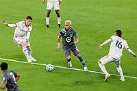 ST PAUL, MN - SEPTEMBER 27: Emanuel Reynoso #10 of Minnesota United FC during a game between Real Salt Lake and Minnesota United FC at Allianz Field on September 27, 2020 in St Paul, Minnesota.
