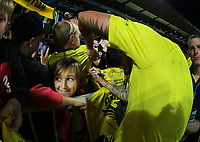 Wellington's David Ball signs autographs after the A-League football match between Wellington Phoenix and Western United FC at Sky Stadium in Wellington, New Zealand on Saturday, 22 May 2021. Photo: Dave Lintott / lintottphoto.co.nz