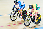 Lee Wai Sze of Hong Kong and  Simona Krupeckaite of Lithuania compete on the Women's Sprint Final Race 2 during the 2017 UCI Track Cycling World Championships on 14 April 2017, in Hong Kong Velodrome, Hong Kong, China. Photo by Marcio Rodrigo Machado / Power Sport Images