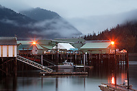 Wharfs and Ocean Beauty Seafoods Cannery, North Harbor, Petersburg, Alaska, USA