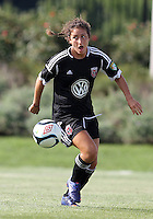 BOYDS, MARYLAND - July 22, 2012:  Molly Menchel (14) of DC United Women moves up field against the Charlotte Lady Eagles during the W League Eastern Conference Championship match at Maryland Soccerplex, in Boyds, Maryland on July 22. DC United Women won 3-0.