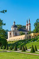 Evangelische Kirche Zum Heiligen Kreuz, Klostergarten Neuzelle, Neuzelle, Niederlausitz, Brandenburg, Deutschland