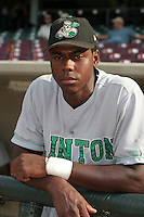 Clinton Lumberkings John Mayberry poses for a photo before a Midwest League game at Fifth Third Field on July 18, 2006 in Dayton, Ohio.  (Mike Janes/Four Seam Images)