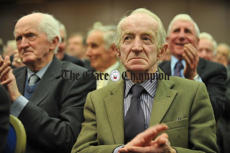 The Fianna Fail Party faithful, including Councillor PJ Kelly  at the Fianna Fail selection convention in the West County hotel, Ennis. Photograph by John Kelly.