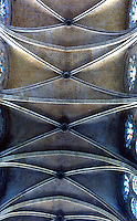 Chartres: Notre Dame Cathedral--ceiling of the nave. Reference only.