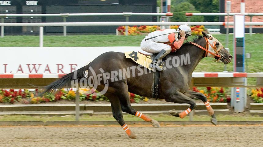 Ah Day winning at Delaware Park on 7/4/09