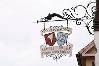 wrought iron sign domaine a gaschy f brucker wettolsheim alsace france