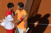 Novak Djokovic of Serbia and Rafael Nadal of Spain at the end of the match <br /> Roma 19-05-2018 Foro Italico, Tennis Internazionali di Tennis d'Italia . Semifinal <br /> Foto Andrea Staccioli / Insidefoto