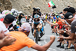 Romain Bardet (FRA) AG2R La Mondiale on the Col d'Izoard during Stage 18 of the 2019 Tour de France running 208km from Embrun to Valloire, France. 25th July 2019.<br /> Picture: ASO/Alex Broadway | Cyclefile<br /> All photos usage must carry mandatory copyright credit (© Cyclefile | ASO/Alex Broadway)