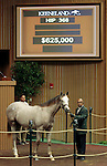LEXINGTON, KY - September 13: Hip # 368 Tapit - Gotta Have Her Colt consigned by Paramount Sales sold for $625,000 at the September Yearling sale at Keeneland.  September 13, 2016 in Lexington, KY (Photo by Candice Chavez/Eclipse Sportswire/Getty Images)