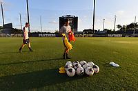 Miami, FL - Tuesday, October 15, 2019:  Staff, Nike soccer balls during a friendly match between the USMNT U-23 and El Salvador at FIU Soccer Stadium.