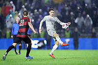 CARY, NC - DECEMBER 13: JB Fischer #8 of Georgetown University plays the ball during a game between Stanford and Georgetown at Sahlen's Stadium at WakeMed Soccer Park on December 13, 2019 in Cary, North Carolina.