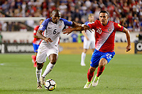 Harrison, NJ - Friday Sept. 01, 2017: Darlington Nagbe, David Guzmán during a 2017 FIFA World Cup Qualifier between the United States (USA) and Costa Rica (CRC) at Red Bull Arena.