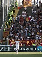 Calcio, Serie A: Bergamo, 20 agosto 2017. <br /> Roma's Aleksandar Kolarov celebrates after scoring during the Italian Serie A football match between Atalanta and Roma at Bergamo's Atleti Azzurri d'Italia stadium. August 20, 2017.<br /> UPDATE IMAGES PRESS/Isabella Bonotto