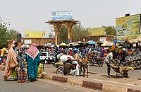 NIGER, Niamey, Grande Marche, grand market / Grosser Markt