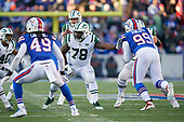 New York Jets tackle Jonotthan Harrison (78) blocks during an NFL football game against the Buffalo Bills, Sunday, December 9, 2018, in Orchard Park, N.Y.  (Mike Janes Photography)