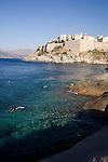 Corsica, France, Calvi Citadel, swimmers, Calvi, West Coast Corsica, French coastal villages, Corsican coast,