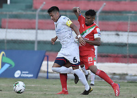 TULUA - COLOMBIA, 06-02-2021: Cortuluá y Fortaleza CEIF en partido por la fecha 4 como parte del Torneo BetPlay DIMAYOR I 2021 jugado en el estadio Doce de Octubre de la ciudad de Tuluá. / Cortulua and Fortaleza CEIF in the match for the date 4 as part of BetPlay DIMAYOR Tournament I 2021 played at Doce de Octubre stadium in Tulua city. Photo: VizzorImage / Gabriel Aponte / Staff