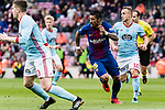 Paulinho Maciel of FC Barcelona (C) in action during the La Liga 2017-18 match between FC Barcelona and RC Celta de Vigo at Camp Nou Stadium on 02 December 2017 in Barcelona, Spain. Photo by Vicens Gimenez / Power Sport Images
