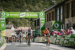 Matteo Trentin (ITA) CCC Team pips Peter Sagan (SVK) Bora-Hansgrohe at the intermediate sprint point during Stage 7 of Tour de France 2020, running 168km from Millau to Lavaur, France. 4th September 2020.<br /> Picture: ASO/Pauline Ballet | Cyclefile<br /> All photos usage must carry mandatory copyright credit (© Cyclefile | ASO/Pauline Ballet)