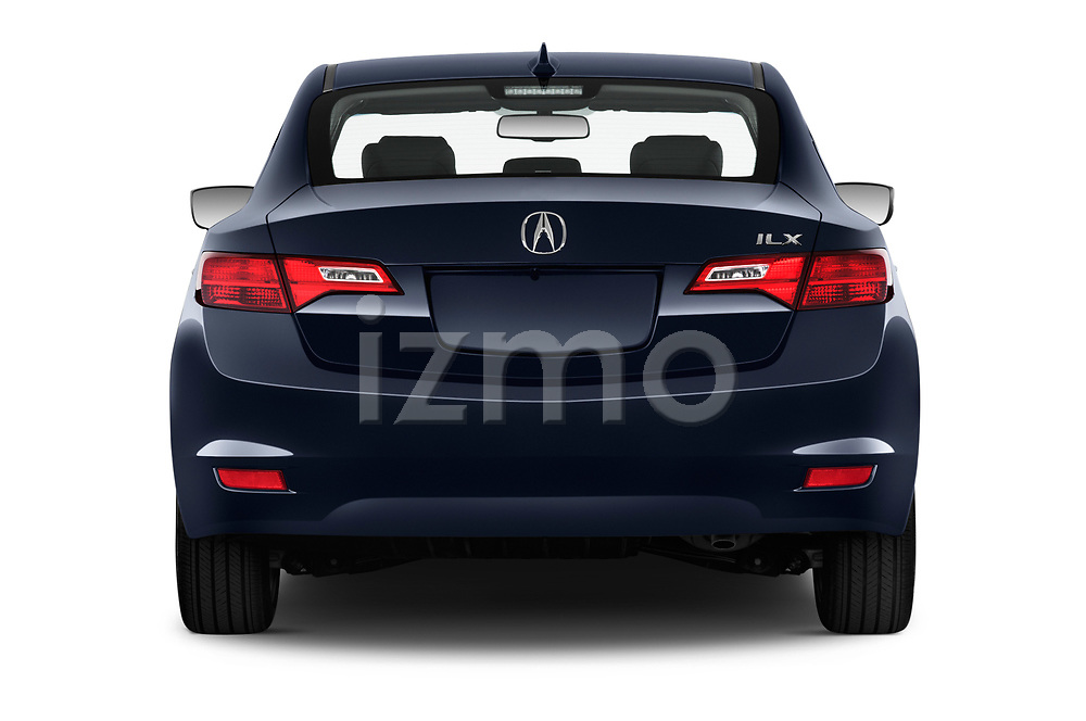 Straight rear view of a 2013 Acura ILX Tech