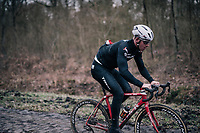 Ryan Mullen (IRL/Trek-Segafredo)<br /> <br /> Team Trek-Segafredo during parcours recon of the 116th Paris-Roubaix 2018, 3 days prior to the race
