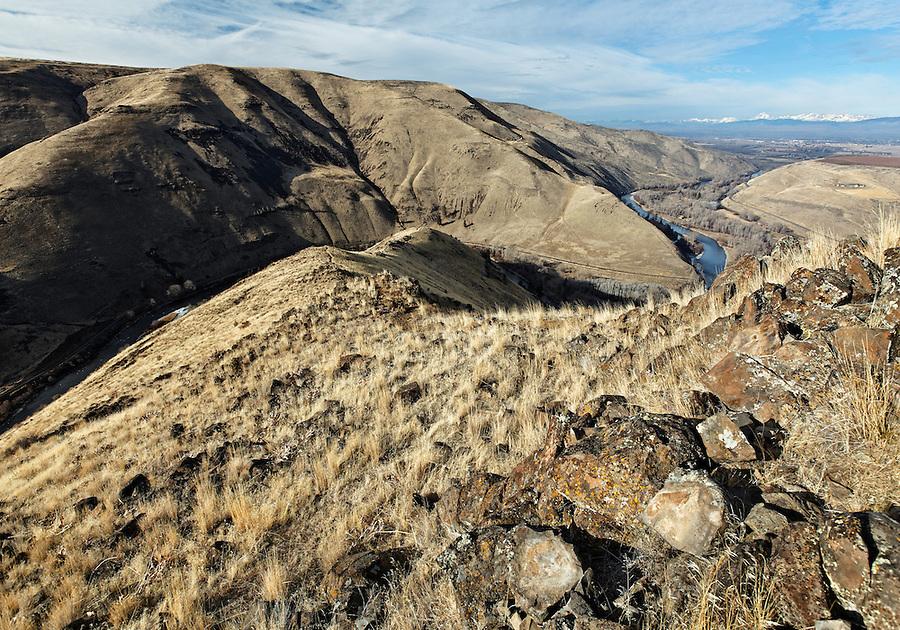 Rattlesnake Dance Ridge above the Yakima River valley, Ellensburg, Washington, USA