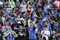 STANFORD, CA - JUNE 29: San Jose Earthquakes fans during a Major League Soccer (MLS) match between the San Jose Earthquakes and the LA Galaxy on June 29, 2019 at Stanford Stadium in Stanford, California.