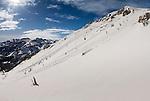 snow boarder on Mammoth Mountain, California