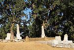 Headstones in the historic Volcano, Calif., cemetery