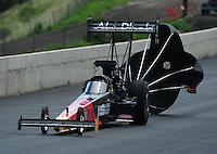 Jul. 24, 2011; Morrison, CO, USA: NHRA top fuel dragster driver Rod Fuller during the Mile High Nationals at Bandimere Speedway. Mandatory Credit: Mark J. Rebilas-