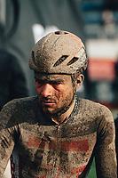 3rd October 2021, Paris–Roubaix Mens Cycling tour;  Florian Vermeersch during the Paris–Roubaix which is famous for its uneven cobblestone course.