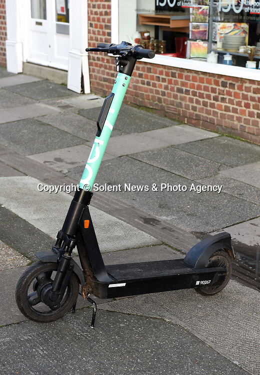 Pictured:  Kyak Jordan was stopped on an e-scooter collected from this area in Newport, Isle of Wight.<br /> <br /> A 20-year-old woman has become the first in Britain to be convicted of drink driving on an e-scooter.   Kyah Jordan was almost three times over the limit when she went through a red light and almost crashed into an unmarked police car.<br /> <br /> In court, her lawyer tried to argue that she was travelling so slowly on the electrically powered contraption she couldn't have posed a danger to anyone.   But magistrates banned her from the road for two years, stating 'it's a motor vehicle, the same as a moped, the same as a bus'.   SEE OUR COPY FOR DETAILS.<br /> <br /> <br /> © Simon Czapp/Solent News & Photo Agency<br /> UK +44 (0) 2380 458800