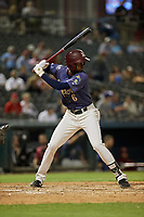 Frisco RoughRiders Brandon Davis (6) bats during a Texas League game against the Springfield Cardinals on May 7, 2019 at Dr Pepper Ballpark in Frisco, Texas.  (Mike Augustin/Four Seam Images)