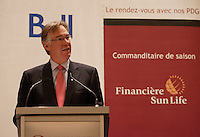 Montreal,(Qc) CANADA - March 28 2011 - Gordon Nixon, CEO and President Royal Bank of Canada (RBC) speak at the Montreal Canadian Club