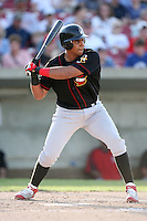 May 25, 2008: Quad Cities River Bandits DH Osvaldo Morales (34) at bat against the Kane County Cougars at Elfstrom Stadium in Geneva, IL. Photo by: Chris Proctor/Four Seam Images