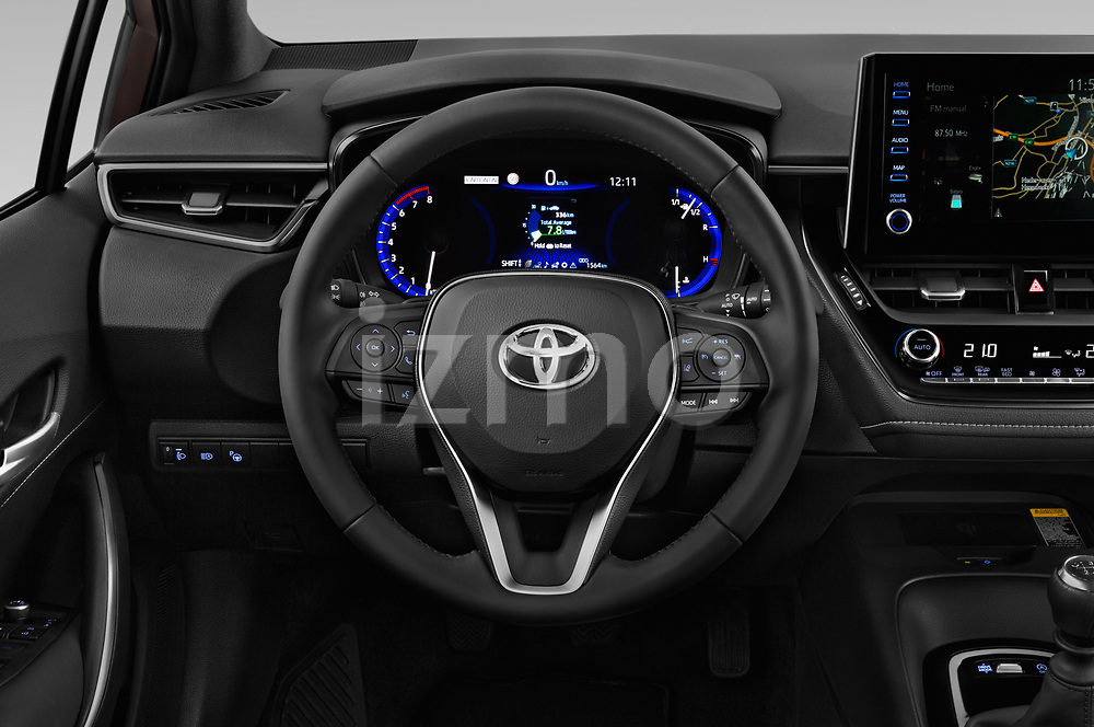 Car pictures of steering wheel view of a 2019 Toyota Corolla Dynamic 5 Door Hatchback