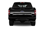 Straight rear view of a 2018 Ford F-150 XLT 4wd SuperCrew 4 Door Pick Up stock images