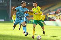 9th January 2021; Carrow Road, Norwich, Norfolk, England, English FA Cup Football, Norwich versus Coventry City; Kyle McFadzean of Coventry City challenges Kenny McLean of Norwich City