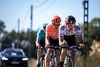 ALbanian National Champion Ylber Sefa (ALB/Tarteletto Isorex) leading the breakaway group<br /> <br /> 104th Kampioenschap van Vlaanderen 2019<br /> One Day Race: Koolskamp > Koolskamp 186km (UCI 1.1)<br /> ©kramon