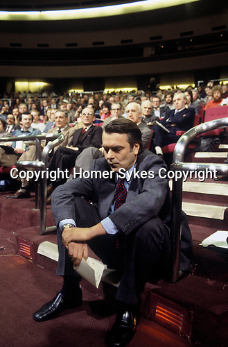 David Owen MP Social Democratic Party SDP, Wembley Conference Centre party meeting. 1980s.<br /> Right Honourable David Anthony Llewellyn Owen Baron Owen CH  PC  MD Social Democratic Party SDP