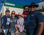 Debbie, Kayla, two-year-old Kennedy, three-year-old Conner and dad Cole during the Reno Rodeo Nevada Blue Night on Wednesday, June 26, 2019.
